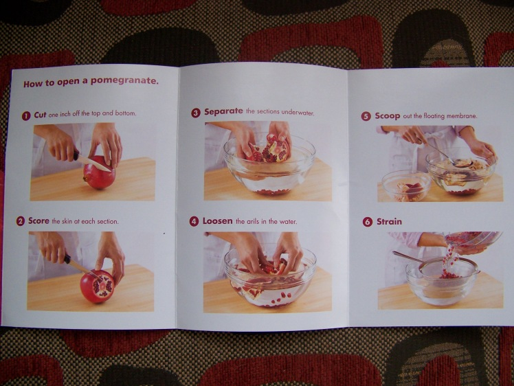 Pomegranate Instructions from Pom