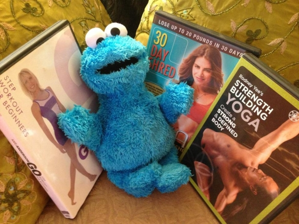 Freddie selected my workout videos. He is rather fierce when it comes to exercise!