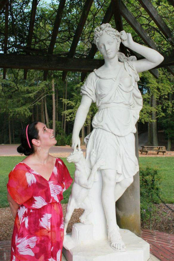 Amy with Diana at Biltmore Estates in Asheville, NC Summer 2012