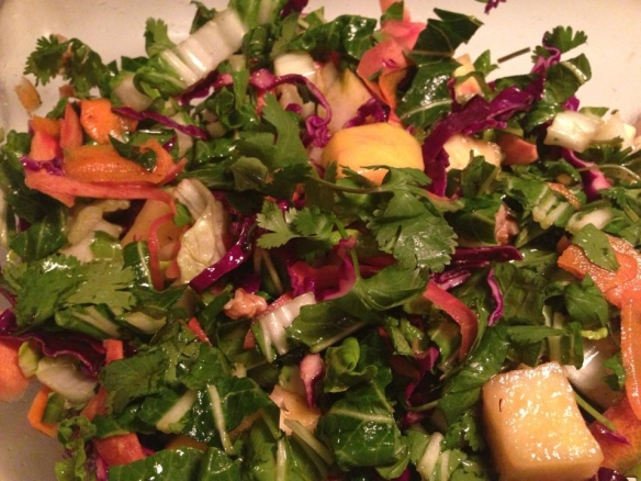 Winter Bok Choy Slaw. The taste is as vibrant as its colors.