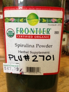 I found Spirulina powder in the bulk spice section of our local co-op.