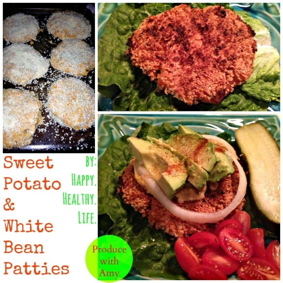Sweet Potato and White Bean Patties