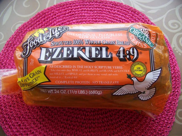 I toasted up a piece of Ezekiel bread to serve the Avocado and White Bean salad on. This bread is amazing, filling, high in protein, and contains no added sugar.