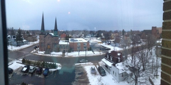 Mike took this photo from the North Star Lounge at The Landmark Inn with the panoramic feature on his iPhone 5.