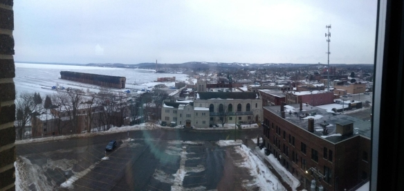 Another cool photo of Marquette. In the distance you can see the historic ore dock. ~Photo by Mike Laitinen