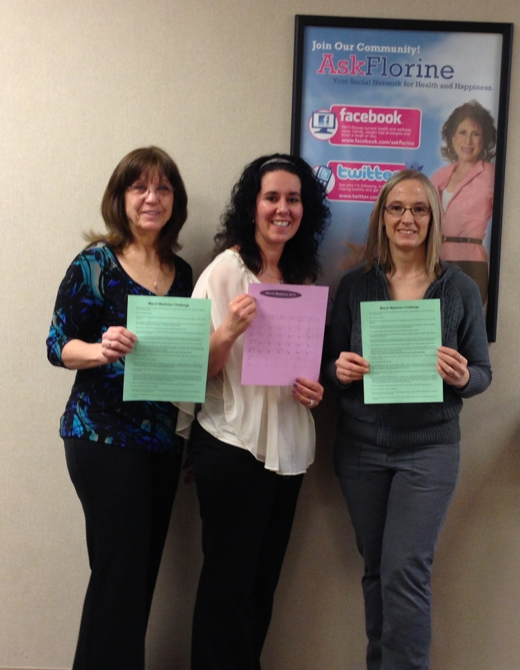 The Marquette Weight Watchers Saturday Team. Gini, Amy, and Brenda. We are so excited about the March Madness Challenge!