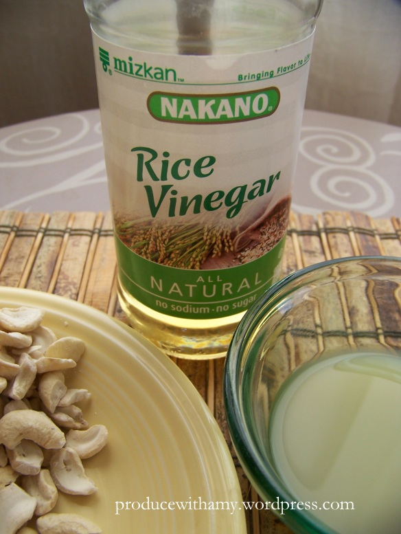 I always have rice vinegar on hand. It really perks up the flavor of Asian soups, salads, and steamed vegetables.