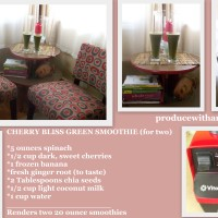 Cherry Bliss Green Smoothie