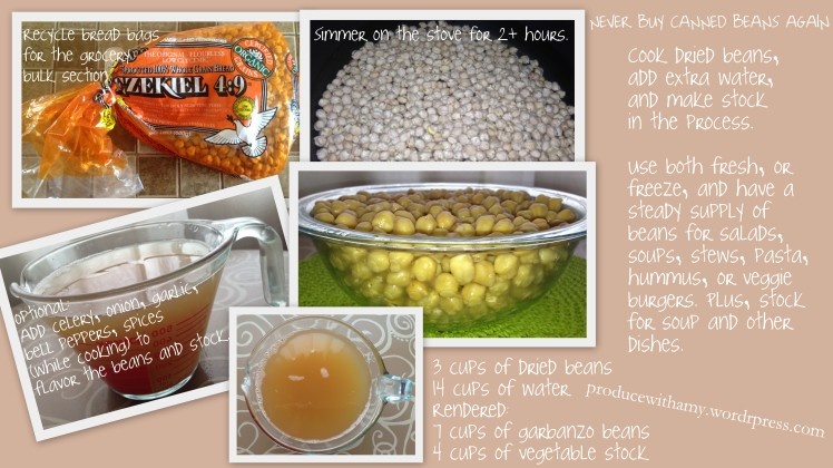 Here's information on cooking your own garbanzo beans/chickpeas.  Click on image for a larger version