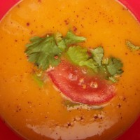 Weight Watchers Sweet Potato Soup with Coconut, Cilantro, and Lime