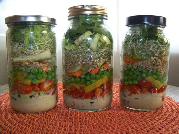 Lovely layered salads.
