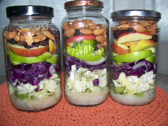I am making Waldorf Inspired Slaw in jars again this week. Yes, they are really that terrific! :)