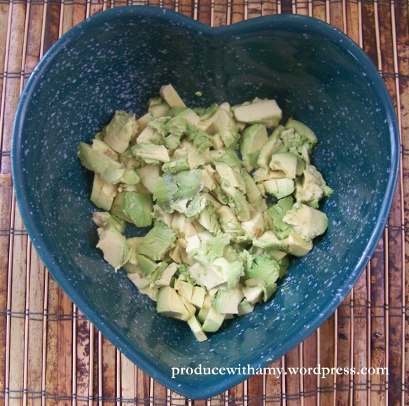 I LOVE avocado. As I have said in an earlier post, I could eat cardboard if it had a smear of avocado on it.