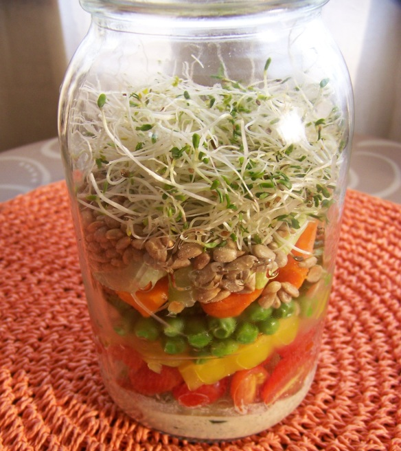 Sprouts are so fresh and delicious. Bean sprouts also make a wonderful addition to jarred salads.