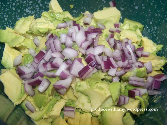 Add the chopped red onion.