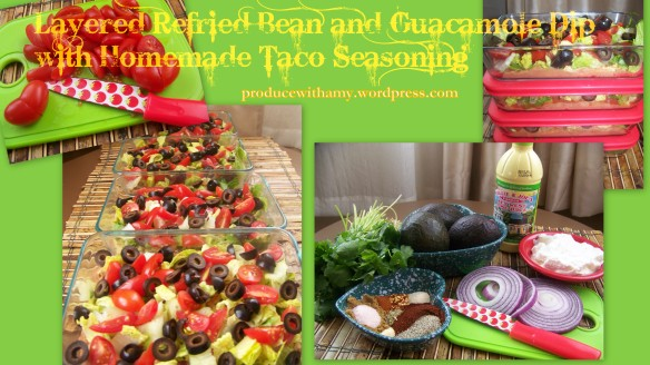 Layered Refried and Guacamole Dip