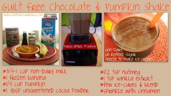 Chocolate Pumpkin Shake