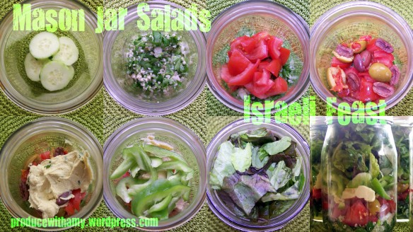 Israeli Feast Mason Jar Salad