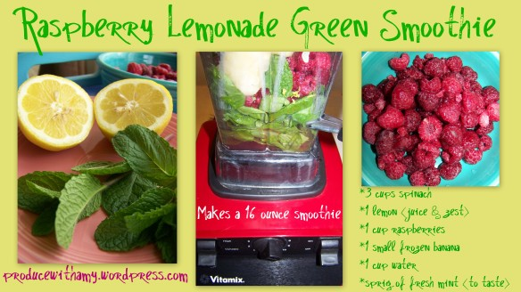 Raspberry Lemonade Green Smoothie