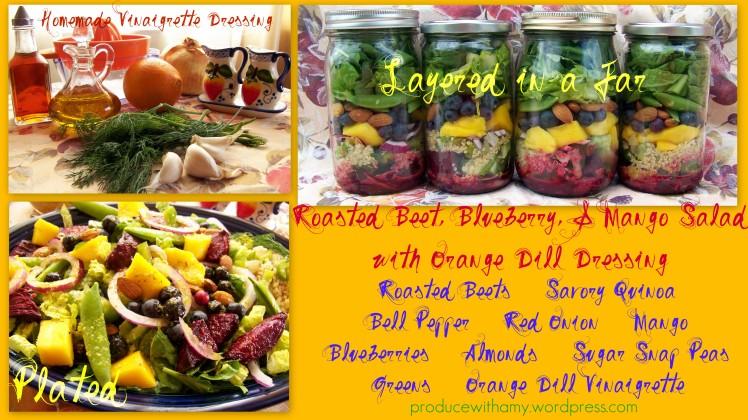 Roasted Beet, Mango, and Blueberry Salad
