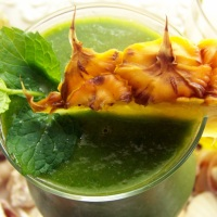 Sunrise Green Smoothie with Mango & Pineapple (and Forty-Two Candles)
