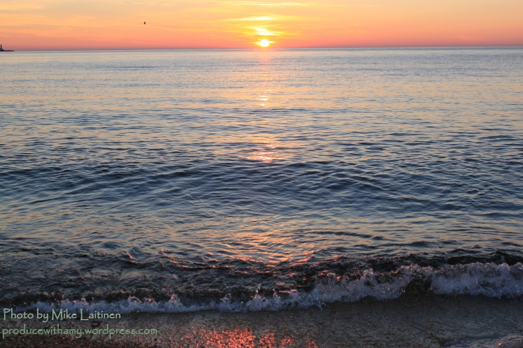 Lake Superior sunrise the last week of June.
