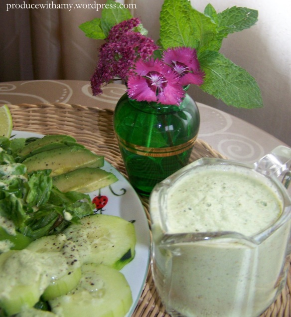 Homemade dressing ~ free of additives.