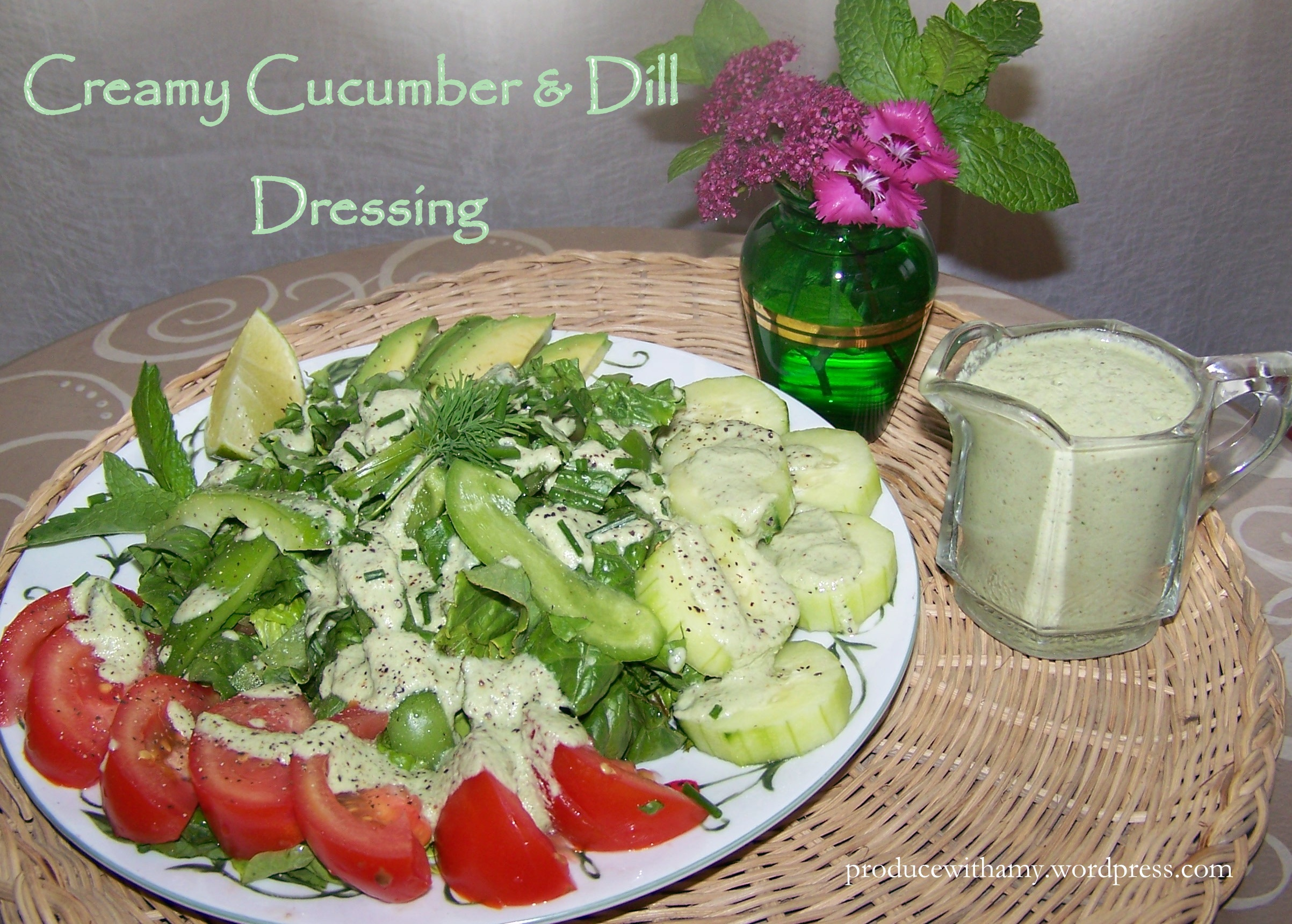 Refreshing Cucumber Salad With Creamy Mint Dressing Recipe ...