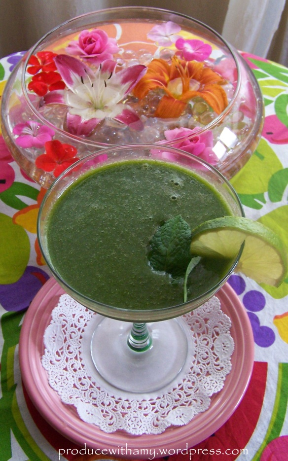 Do not let the green color frighten you. The green smoothies taste like fruit and bursting with nutrition.