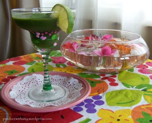 These margarita glasses were a gift from my WW members and were hand painted by one of my member's mothers.