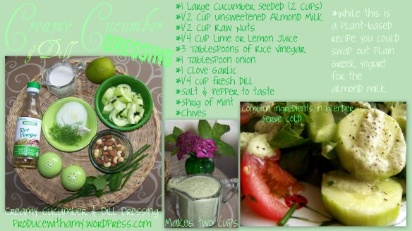 Creamy Cucumber and Dill Dressing