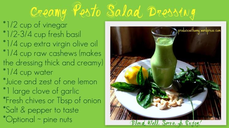 Creamy Pesto Dressing