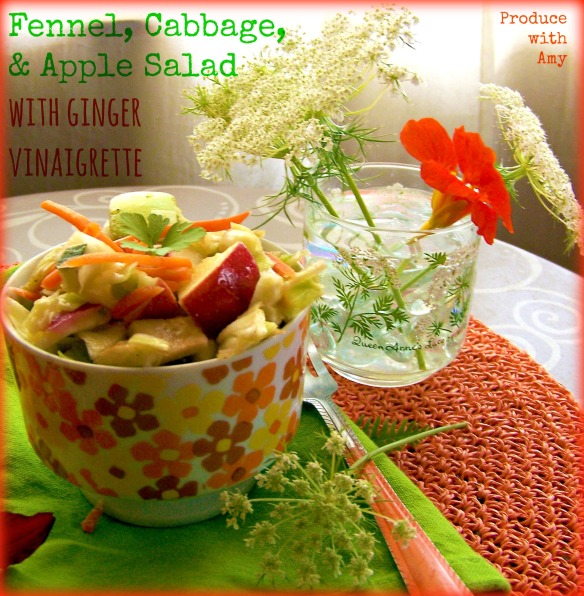 Fennel, Cabbage, & Apple Salad by Produce with Amy