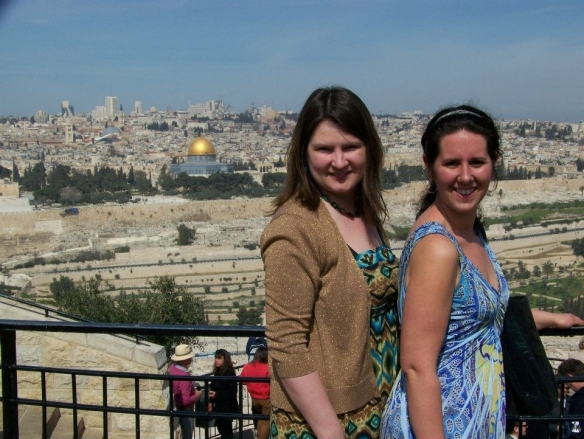 Heather and I in Jerusalem, Israel spring of 2012.