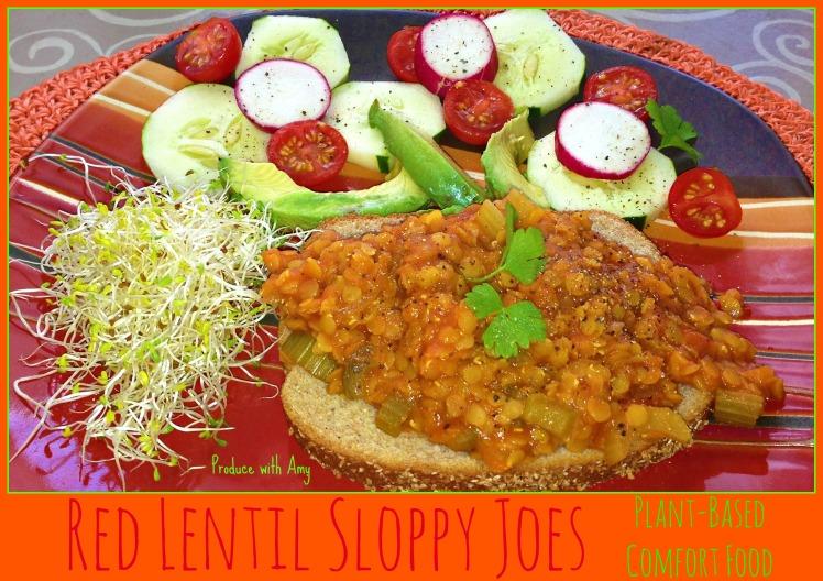 Red Lentil Sloppy Joes