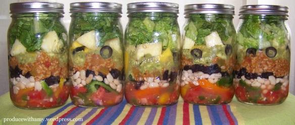 Garden Fiesta Mason Jar Salads