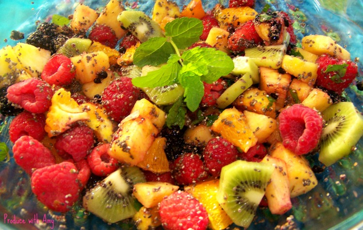 Fruit Salad with Lime Juice and Chia Seeds