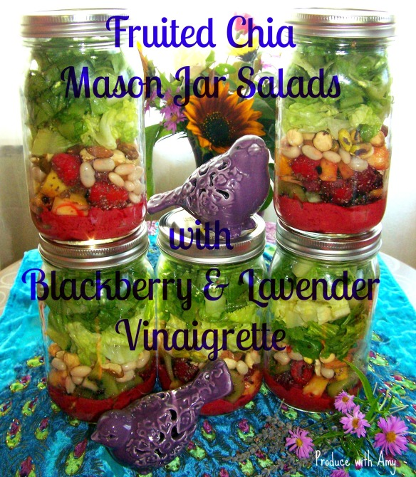 Fruited Chia Mason Jar Salads with Blackberry & Lavender ...