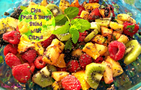Chia Fruit and Berry Salad with Citrus