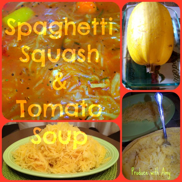 Spaghetti Squash and Tomato Soup:  Produce with Amy