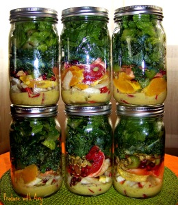 Winter Citrus & Fennel Mason Jar Salads with Green Apple Vinaigrette