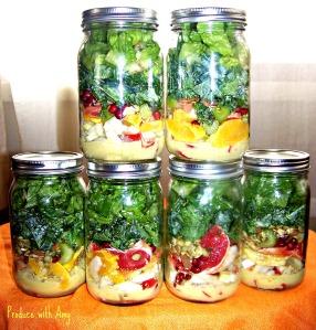 Winter Citrus & Fennel Mason Jar Salads with Green Apple Vinaigrette