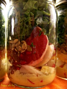 Winter Citrus & Fennel Mason Jar Salads with Green Apple Vinaigrette Dressing