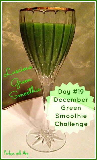 Day #19 December Green Smoothie Challenge