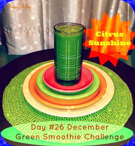 Day #26 December Green Smoothie Challenge