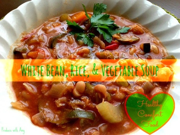 White Bean, Rice, & Vegetable Soup