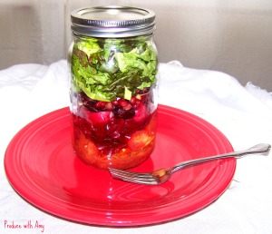 Scarlet Salad in a Jar