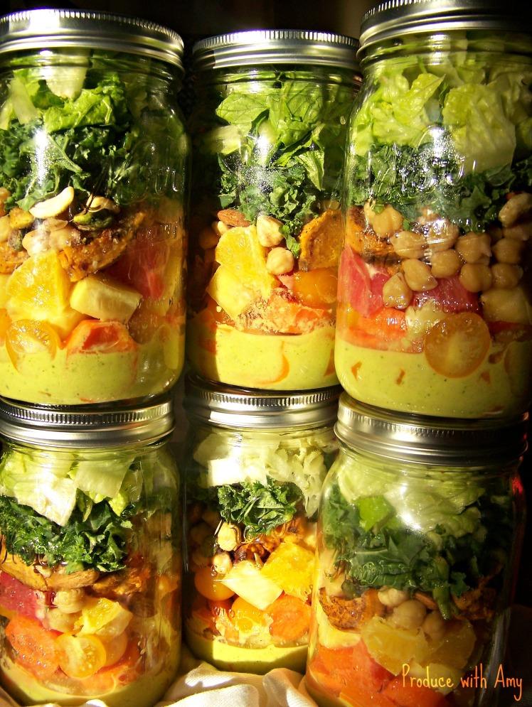 Sunshine Salad in a Jar with a Kick