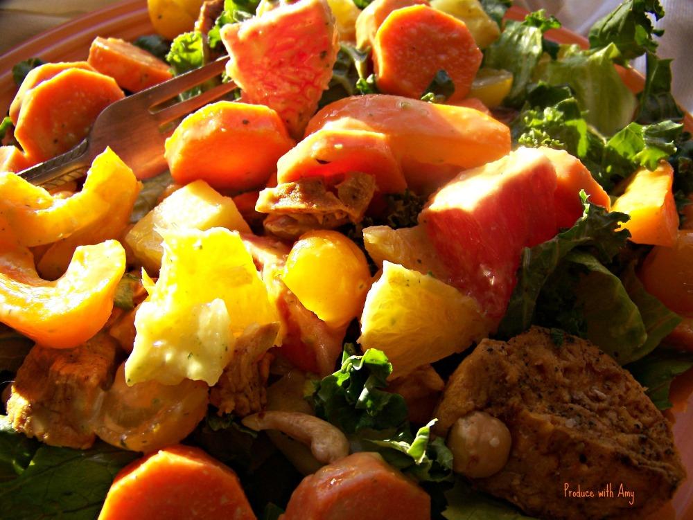 Sunshine Salad on a Plate