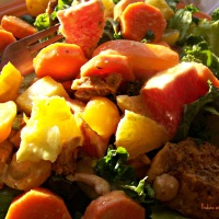 Sunshine Salad in a Jar with Kicky Mango Vinaigrette